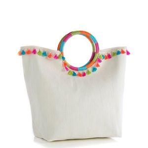 Shiraleah Remi Fringe Straw Tote Bag